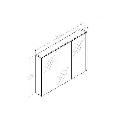 Raguvos baldai veidrodinė spintelė 90 3