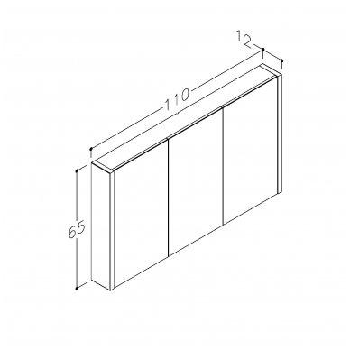 Raguvos baldai veidrodinė spintelė 110 3