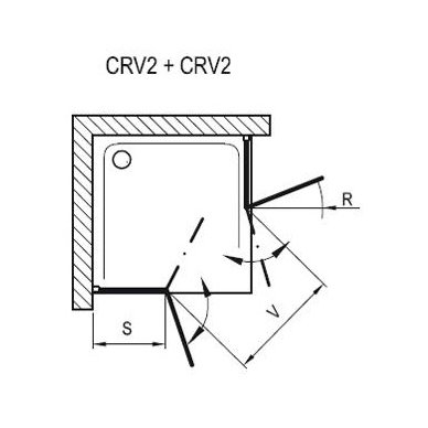Ravak dušo durys Chrome CRV2 1000 4