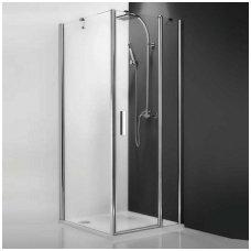 Roltechnik kvadratinė dušo kabina TDO1+TB 1000x1000