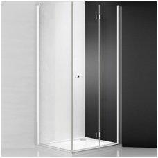 Roltechnik kvadratinė dušo kabina TZOL1+TB/TZOP1+TB 1000x1000