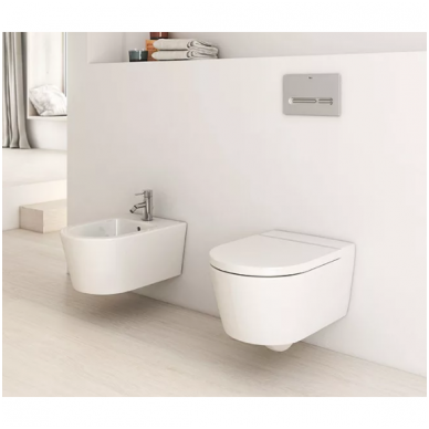 Roca pakabinamas WC su dangčiu Inspira Round Rimless 2