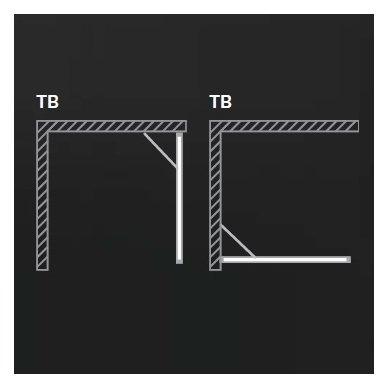 Roltechnik kvadratinė dušo kabina TDO1+TB 800x800 3