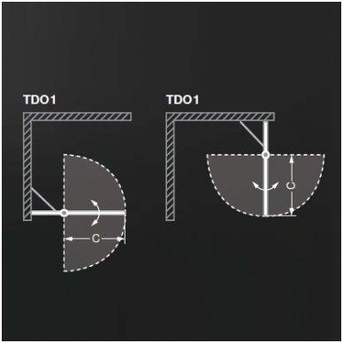 Roth kvadratinė dušo kabina TDO1+TDO1 900x900 3