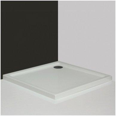 Roltechnik kvadratinis dušo padėklas Flat Kvadro 800x800