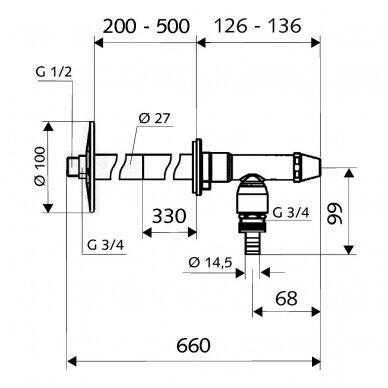 """Schell neužšąlantis sodo ventilis 1/2"""" Polar II 2"""