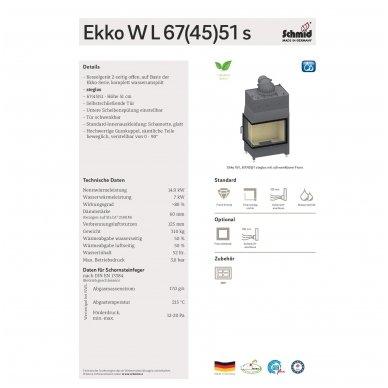 Schmid židinio kapsulė su vandens šilumokaičiu Ekko W67(45)51 2