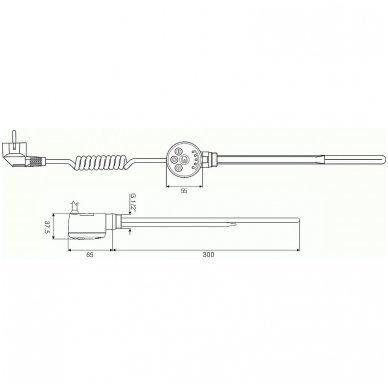 Terma kaitinimo elementas MEG (300 W) 2