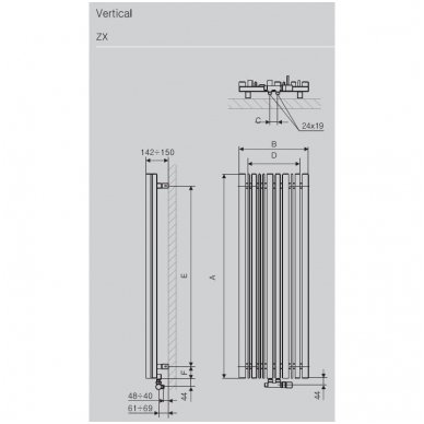 Terma Technologie vandeninis gyvatukas Sherwood Vertical 2