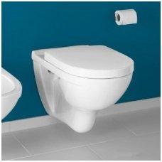Villeroy&Boch pakabinamas WC su dangčiu Softclose ir C+ danga O.Novo 5660H1R1