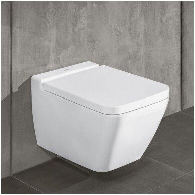Villeroy&Boch pakabinamas WC su dangčiu Finion