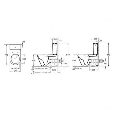 Villeroy&Boch pastatomas WC su dangčiu Architectura DirectFlush 4