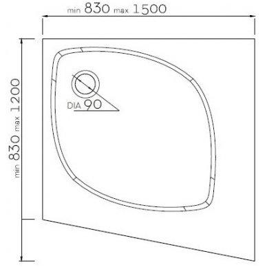 Vispool individualus dušo padėklas IS-830 2