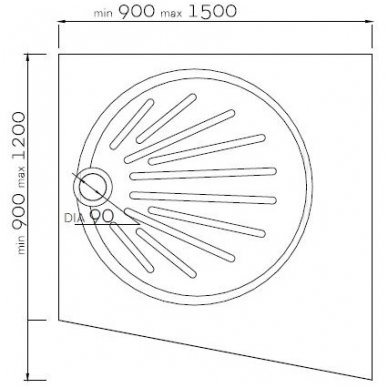 Vispool individualus dušo padėklas IS-900 2