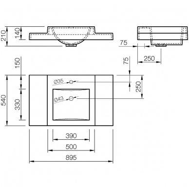Vispool baldinis praustuvas Q-900 5